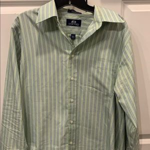 Blue and Green stripped dress shirt, size 15 1/2